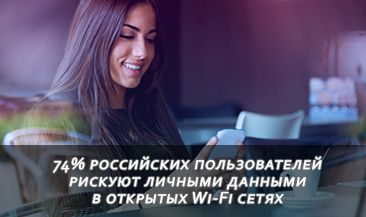 74% российских пользователей рискуют личными данными в открытых Wi-Fi сетях